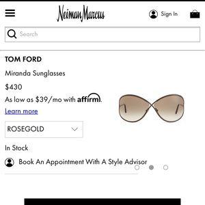 Tom Ford Miranda Sunglasses NWT